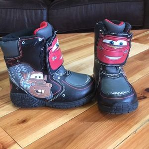 Kids lightening McQueen snow boots